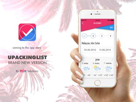 Packing Checklist Apps - uPacking List Acts as a Tailored Travel Checklist to Keep You Organized