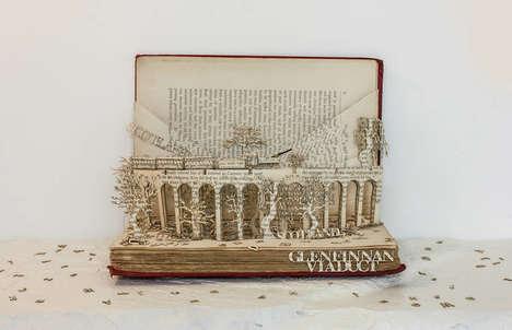 Pop-Up Book Sculptures