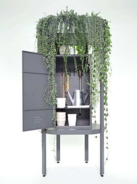 Multi-Use Cabinet Planters