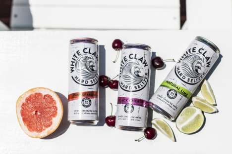 Alcoholic Seltzer Drinks - White Claw Hard Seltzer Puts a Boozy Twist on Sparkling Water