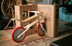 Color-In Bicycle Boxes - The 'Brum Brum' Bicycle Box Turns into a Toy After the Cycle is Unpackaged