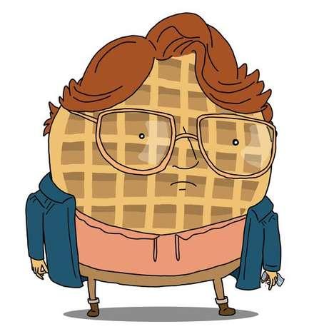 TV Thriller Waffle Illustrations