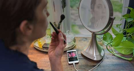 Multimedia Makeup Mirrors