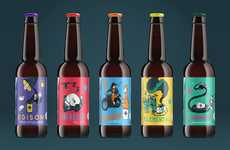 Storytelling Brew Branding - Cartoon Beer Packaging Tells the Whimsical Tales Behind Each Beverage