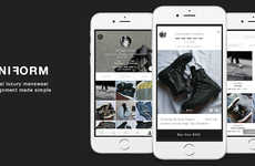 Menswear Shopping Apps - Uniform is a Global Platform Allowing Men to Buy and Sell Luxury Clothing