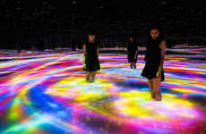 LED Labyrinth Installations - teamLab's Immersive Art Project Spans Almost 32,300 Square Feet