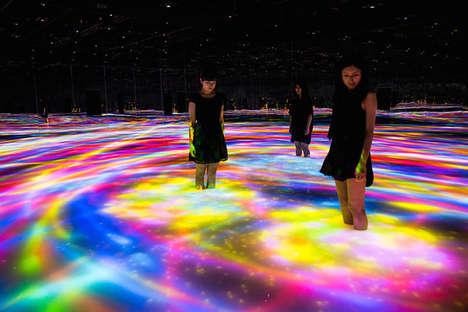 LED Labyrinth Installations