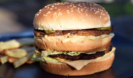 Vegan Fast Food Burgers - The Big MacInnes is a Plant-Based Take on A Big Mac Made With Chickpeas