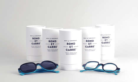 Cylindrical Eyewear Packaging - The ROND ET CARRE' Brand Identity Fuses Style with Sustainability