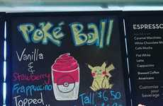 Blended Anime Beverages - This Secret Menu Starbucks Frappuccino is Decorated Like a Pokeball