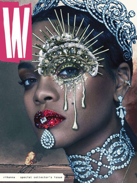 Post-Apocalyptic Songstress Covers - This W Magazine Collector's Issue Features Rihanna