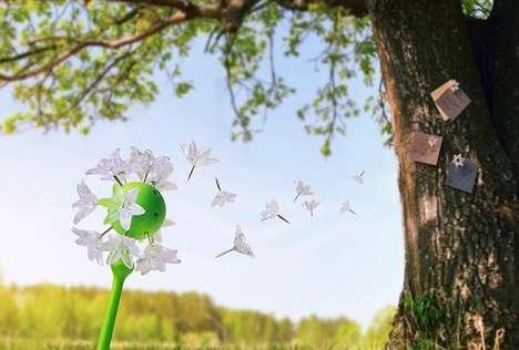 Whimsical Dandelion Push Pins