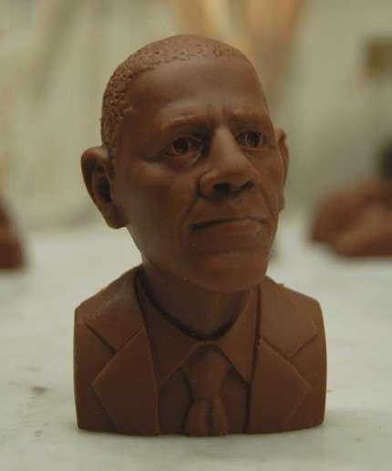 Obama Shaped Chocolate