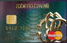Snakeskin Credit Cards - Roberto Cavalli Makes Charge Cards Dangerously Fashionable