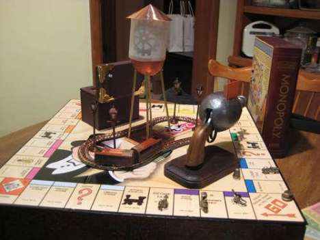 Steampunked Monopoly  - The Popular Board Game Goes Victorian in this DIY Set