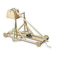 Wood Trebuchet Kit Lets You Assail Unsuspecting Coworkers