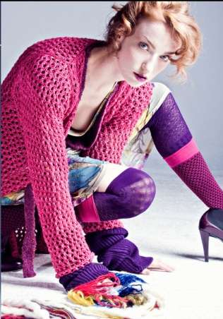 Electric-Hued Yarn Fashion
