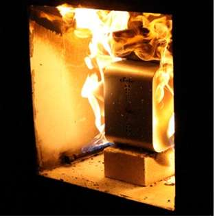 The ioSafe Defies Fire and Water (CES 2009)