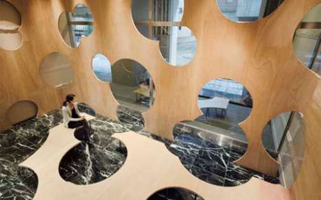 Swiss Cheese Architecture - Bubbly 'Boolean' Interior Installation at U of Tokyo