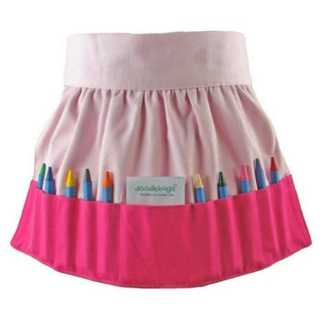 The Cute Crayon Apron Keeps Art Tools Handy
