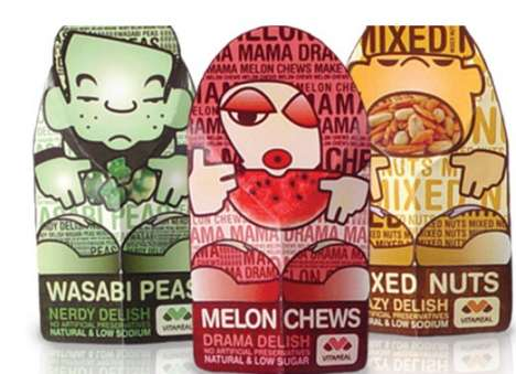 Fun Packaging for Healthy Foods - VitaMeal Tempts Children with Coolness