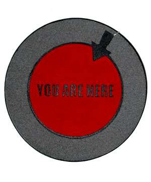 Recycled 'You Are Here' Doormat States the Obvious