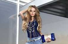 Unexpected Ad Campaigns - Lindsay Lohan Dons Jeans and Streetwear for Fornarina