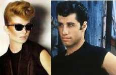 Greaser Hairstyles for Women - MaxMara SS09 Campaign Channels John Travolta in Grease