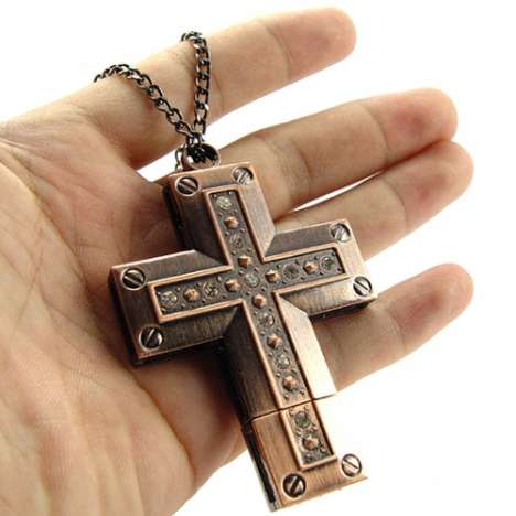 Religious USB Necklaces Go From Church to Computer With Ease