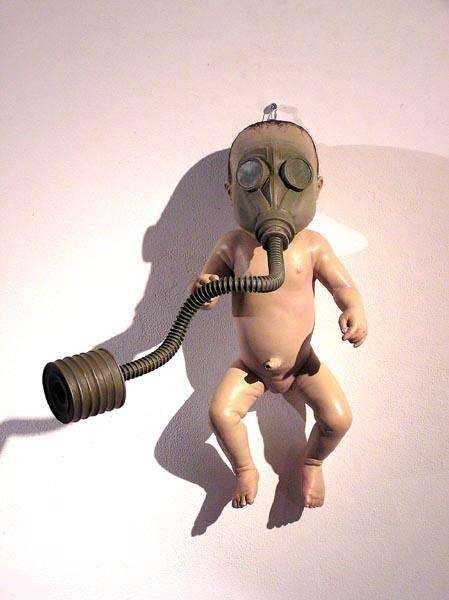 Gas Mask Baby Art