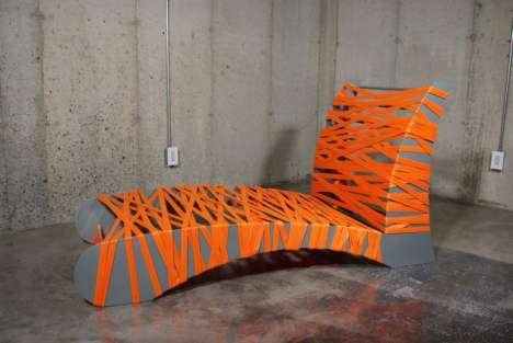 Webbed Nest Beds - Cole Scego's Neon Orange 'Bird's Nest 'Lounge