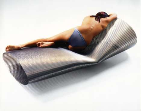Metal Furniture - The Membrane Chaise Lounge Looks Ice Cold But So Cool