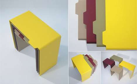 Organizational Obsession Furniture - Folder Tables For Neat Freaks and Compulsive Planners