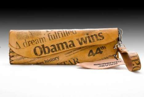 The Obama Clutch Features Victory News Collage