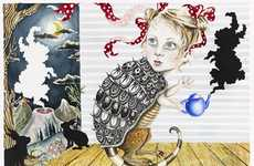 Alice In Wonderland Inspired Art - Julie Nord Paintings Capture Adolescent America