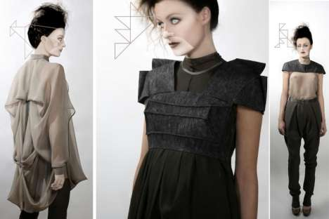 Geometric-Inspired Fashion - Futuristic Polyhedron-Style Shapes and Designs