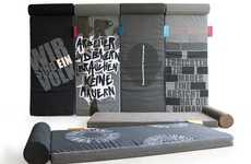Berlin Wall-Inspired Beds - Air Matresses Decorated with Iron Curtain Grafitti