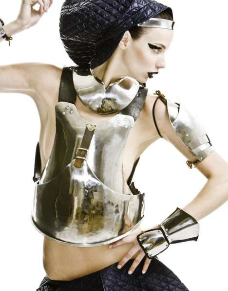 Galactic Body Armor - Protective Fashion Garb in Highlights Magazine's 'Armour Karma'