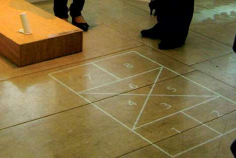 Projected Hopscotch Courts - The Dream Beam Eliminates Chalked-Up Sidewalks