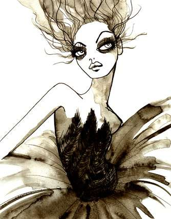 Gloomy Fashion Illustrations - Cassandra Rhodin's Watercolors Mix 1920s Style and Sadness