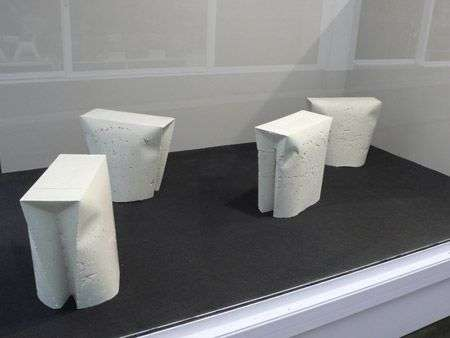 Shopping Bag-Shaped Stools - Gitta Gschwendtner's Concrete Take on Consumerism