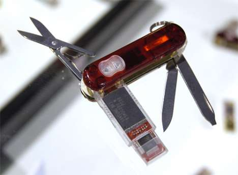32 Gig Mega Gadgets - SwissFlash Presentation Pro Knife Is a Flash Drive RC, Mouse, Laser Pointer