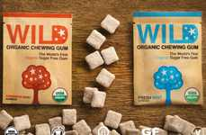 Cavity-Fighting Chewing Gums - The Wild Organic Chewing Gum Range Features No Artificial Additives