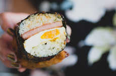 Fried Spam Sushi - This Egg and Spam Musubi Turns the Hawaiian Food Fare Into a Crispy Meal