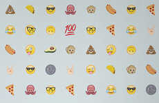 Emoji-Themed Wallpaper - This Collection from 'Murals Wallpaper' Depicts Popular Digital Symbols