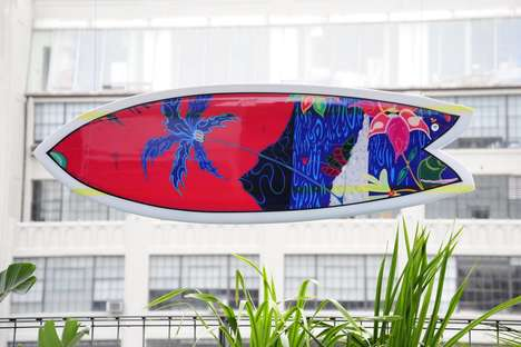 Fish-Shaped Surfboards