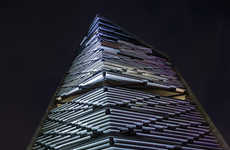Razor-Sharp Building Designs - 'Torre Reforma's' Facade Looks Like a Blade Slicing into the Sky