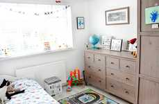 Mom-Hosted Home Decor Vlogs - A Lifestyle Blogger Reveals a Modern Kids' Room With Airplane Accents