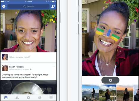 Facebook's New Feed Features an Olympic-Themed Camera as its Focus