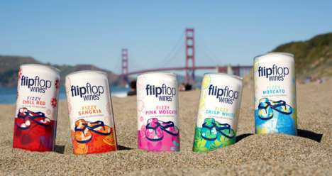 Beachy Canned Wines - 'Flip Flop Wines' Makes Wine in Cans with Lighthearted and Fun Branding